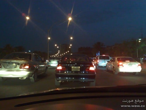 شوارع مزدحمة في الكويت