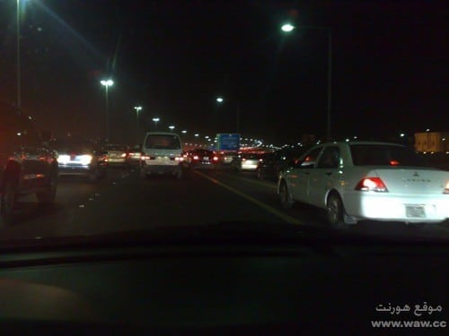 إزدحام الطرق في الكويت