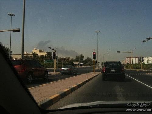 دخان الحريق من تصويري