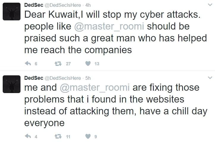 انتهاء الهجمات الإلكترونية