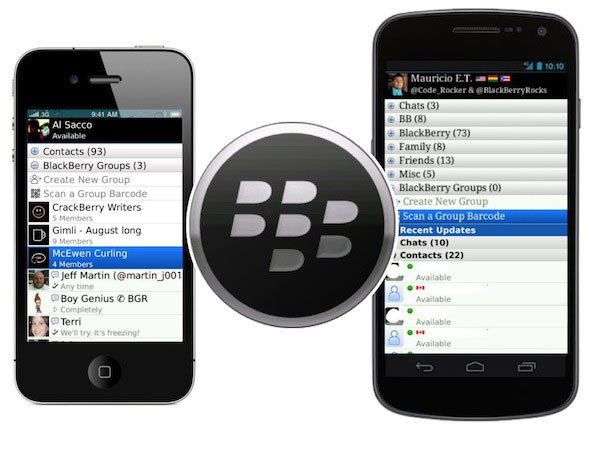 BBM on iphone and android