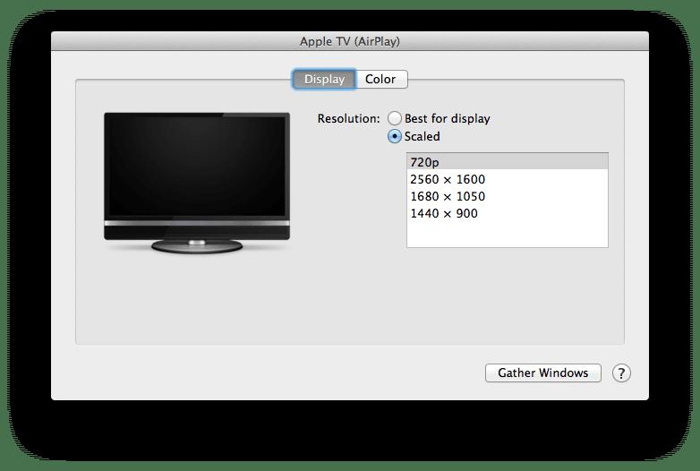 تغير وضوح الشاشة في جهاز الماك