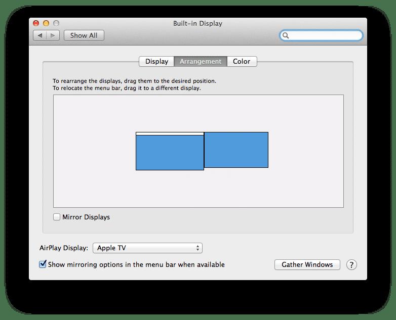 طريقة ربط شاشة أخرى الى الماك من خلال جهاز Apple TV