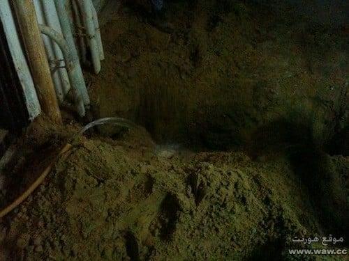 دفن الحفرة