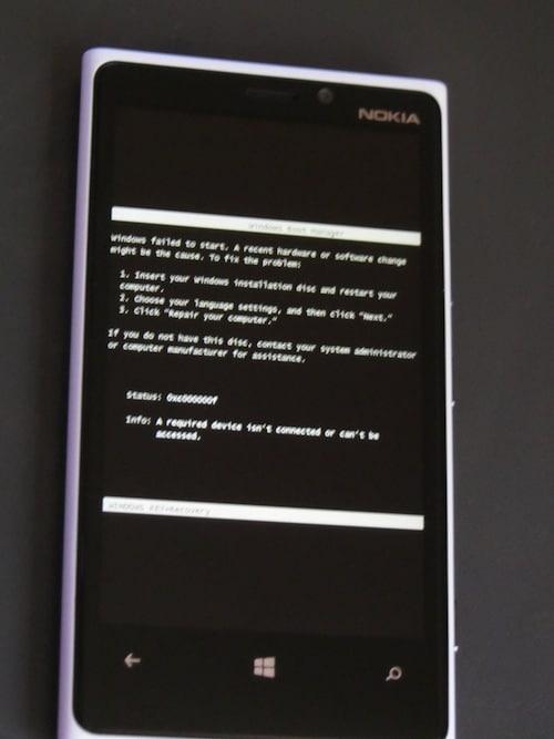 Lumia 920 Error