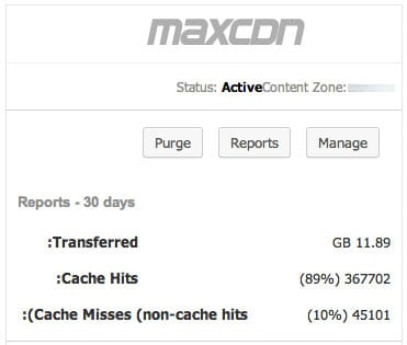 MaxCDN Active Zone