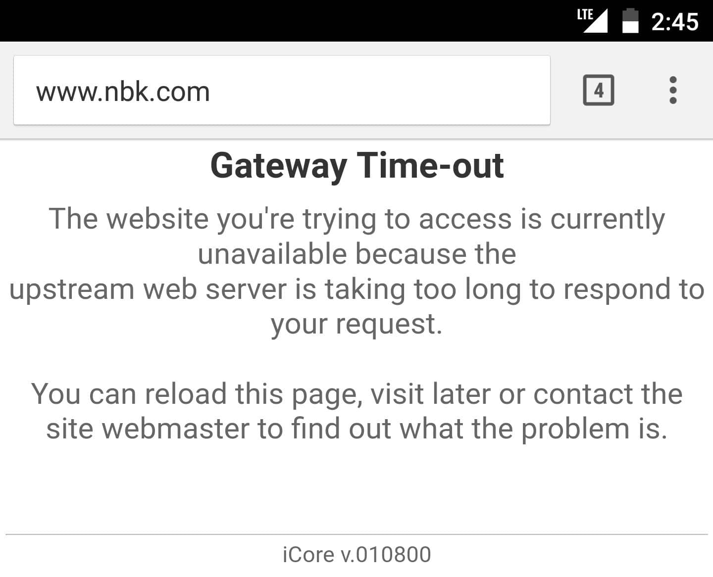 NBK down