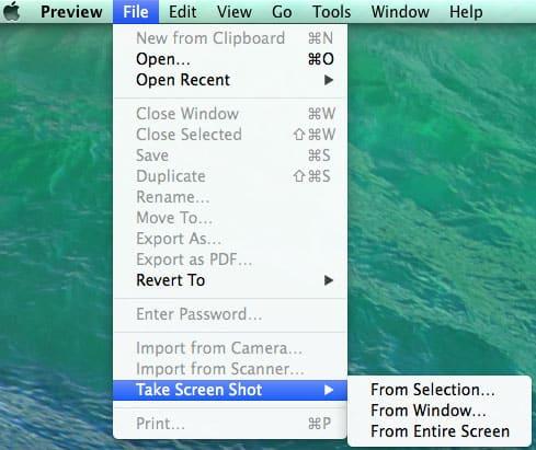 طريقة تصوير شاشة الماك بإستخدام برنامج الصور الإفتراضي Preview