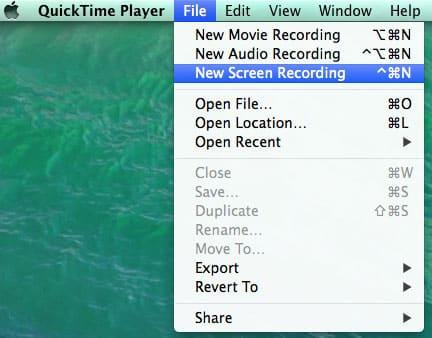 طريقة تصوير سطح مكتب الماك بالفيديو بإستخدام برنامج QuickTime Player