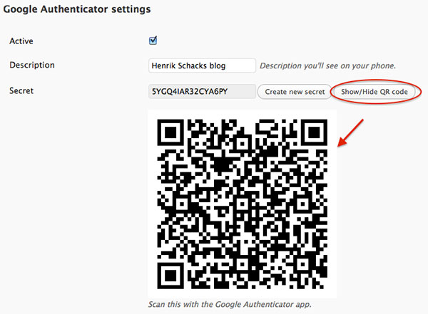 Scan With Gggole Authenticator