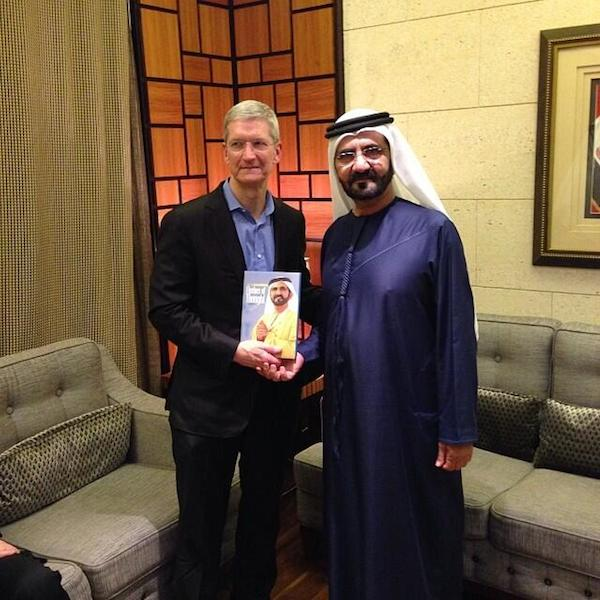 Tim Cook and Mohammed bin Rashid Al Maktoum