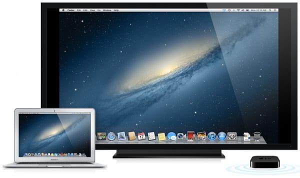 عرض شاشة الماك على جهاز Apple TV