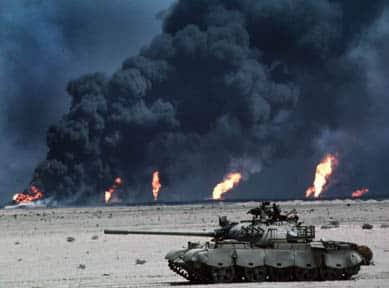 حرق آبار النفط