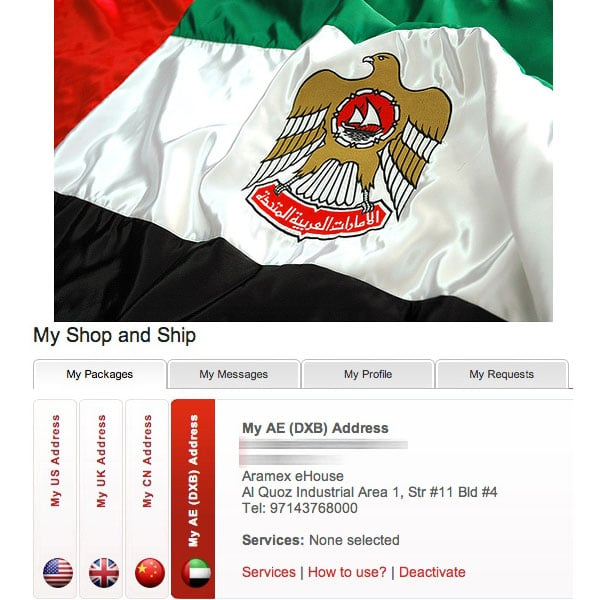 UAE Address